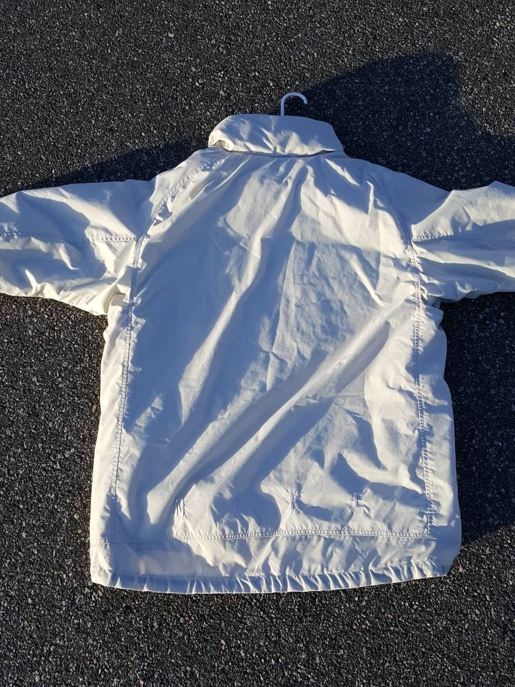Vintage NIKE  off white Puffer ski Jacket sz extra Large Cream Winter Coat