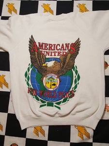 Vtg 1995 0peration Desert Storm  Americans United for World peace  Crewneck Sweatshirts Size L
