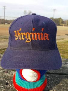 Vtg Old English UVA The GAME University of Virginia College Snapback hat cap