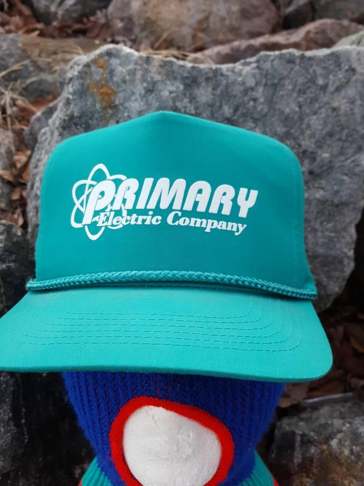 Vintage Primary Electric Company Teal Snapback hat
