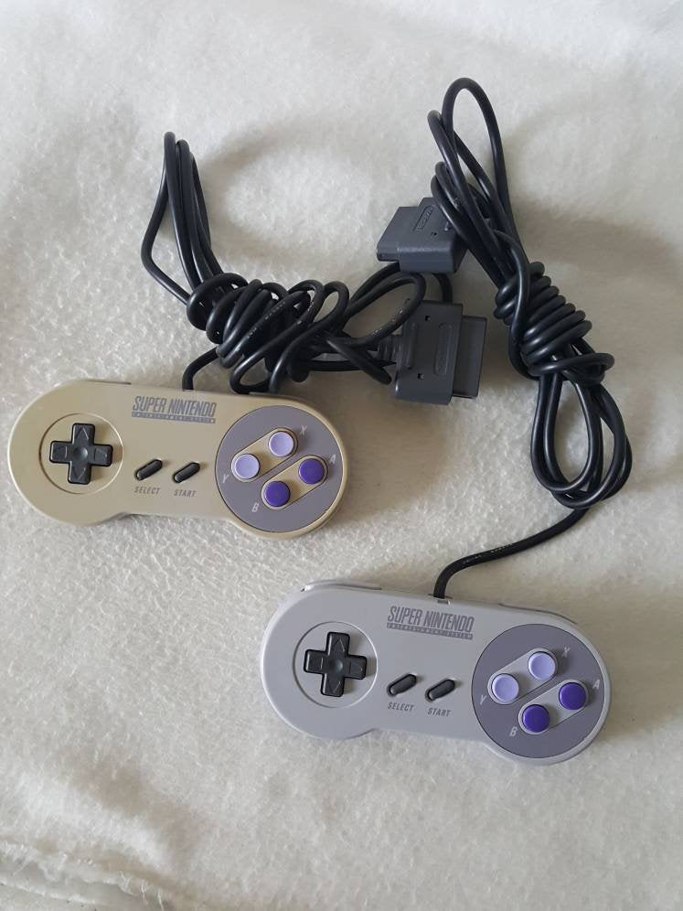 Vtg 90s  Original Super Nintendo Entertainment System Controllers Tested SNES