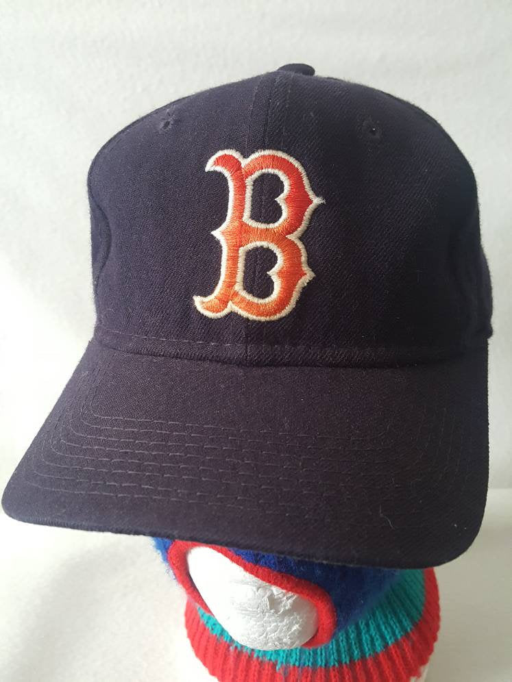 Vtg Boston Red Sox Fitted Cap sz 7 1/8 Sports Specialties Pro Model hat cap