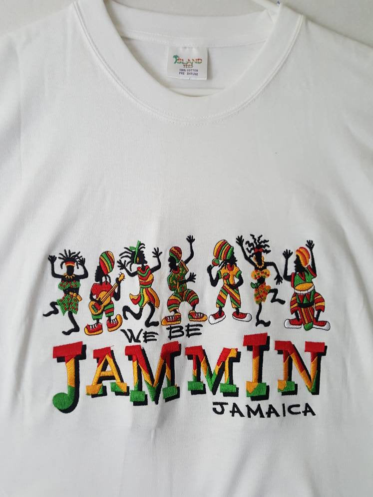 Vtg We be Jammin Jamaica tee shirt sz large Island Tees One love Rasta