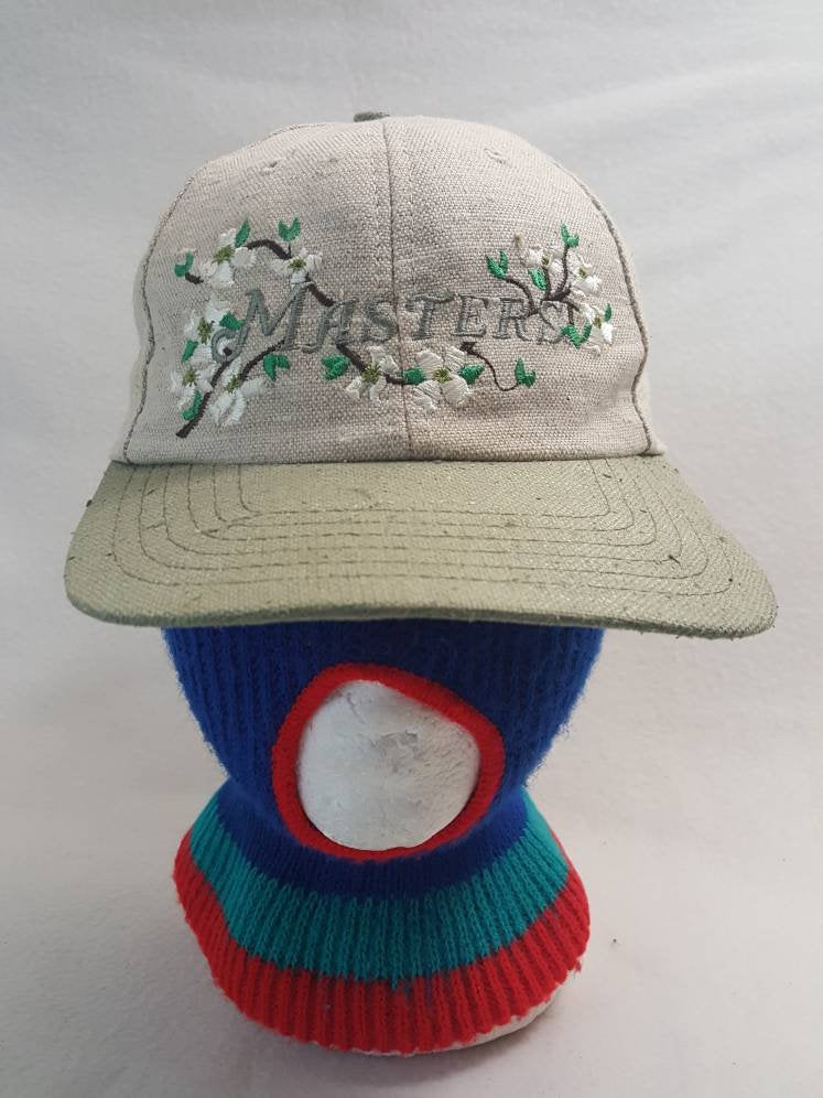 Vtg American Needle The Masters Augusta National Beige  dad hat Magnolia Golf Cap