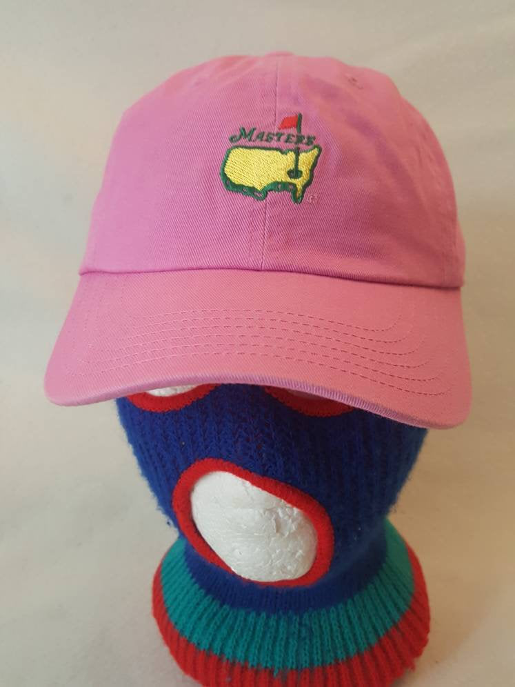 Vtg American Needle The Masters Augusta National PGA  strapback Pink dad hat Golf Cap