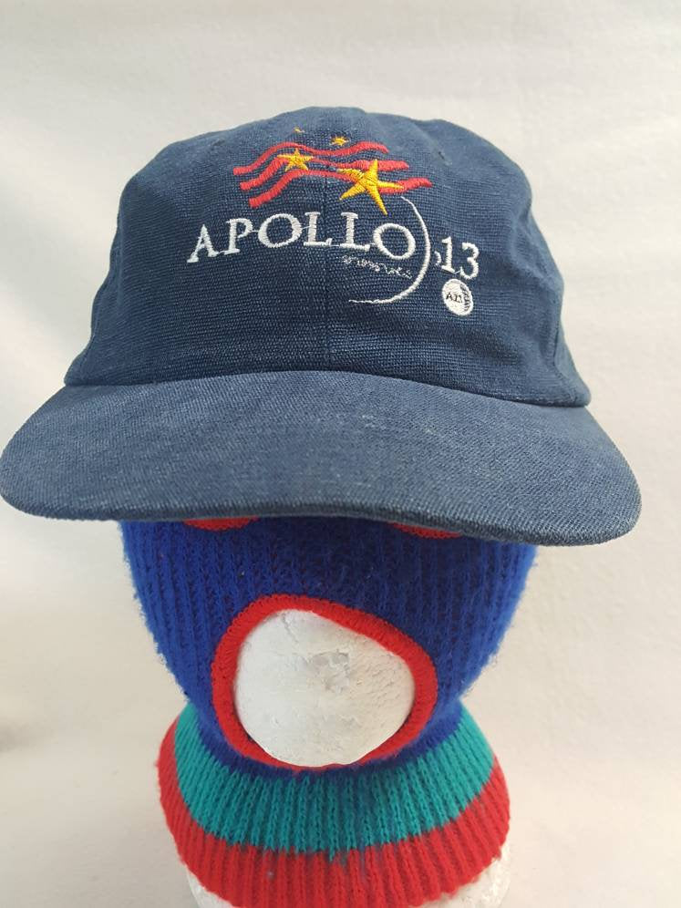 Vtg Apollo 13 Movie strapback dad hat Tom Hanks Kevin Bacon 1995