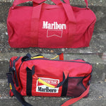 2 Vtg Marlboro Duffle Bags Adventure Team 90s Duffel Luggage Carry on  bundle
