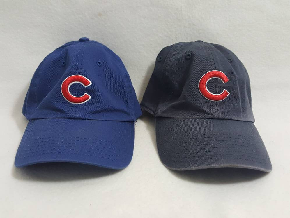 2 Vtg Chicago Cubs strapback dad hat Twins  90s Retro  MLB Baseball Steve Bartman