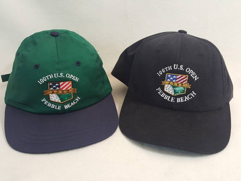 2 Vintage Pebble Beach 100th US Open  Strapback Dad hat cap preppy made in USA