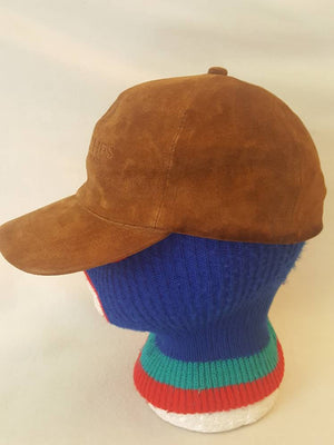 Vtg Britches Great Outdoors  100% Suede  dad hat   made in USA