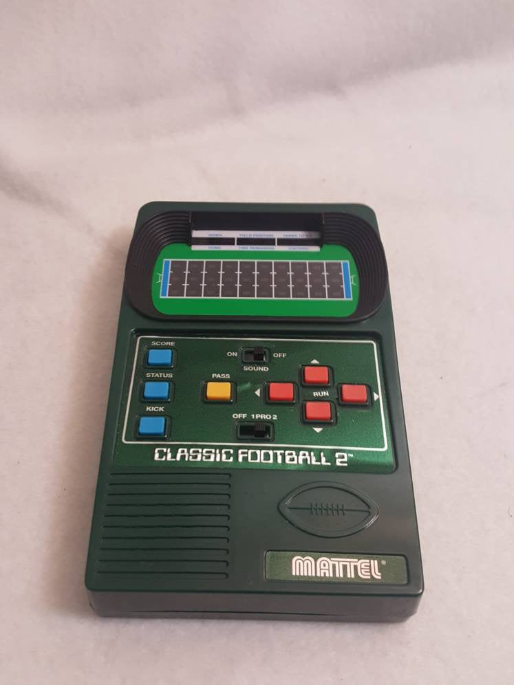 Vtg Classic Football 2 Mattel Electronics Hand Held Football game Works
