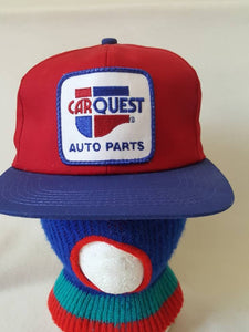 Vtg Car Quest Auto  Patch  Snapback  hat K Products Brand Made In UsA