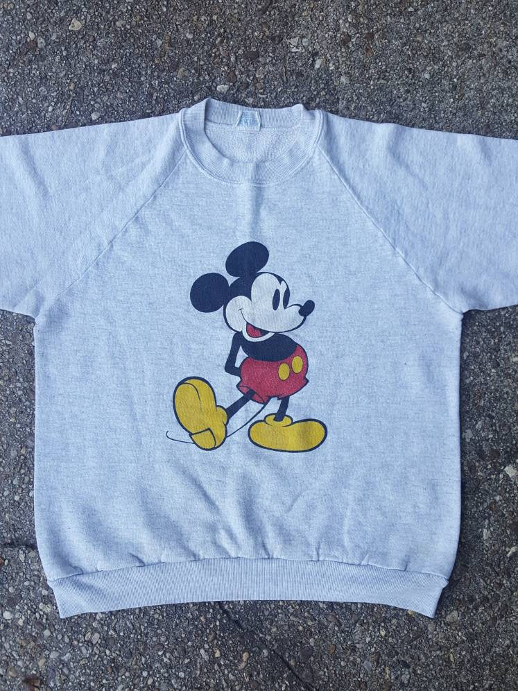 Vtg  Mickey Mouse Original Walt Disney World Long Sleeve Sweatshirt Sz lg made in USA
