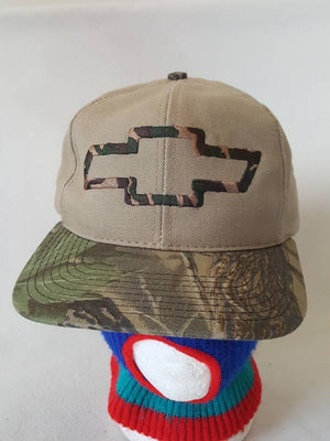 Vtg Chevy Camo made in usa snapback hat Chevrolet  cap By Ralph White General Motors