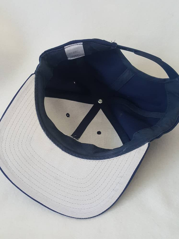 Vtg Sealy Posturpedic  mattress Store snapback  Navy Blue  Work hat
