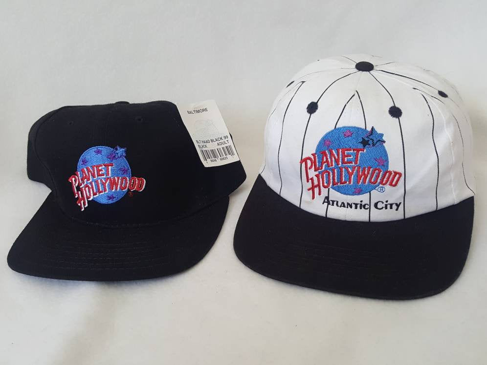 2 Vtg 90s Planet Hollywood  Snapbacks hat cap love all serve all