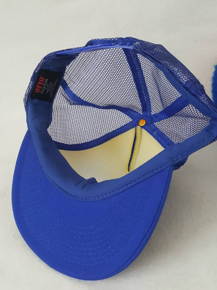 Vtg Pabst Blue Ribbon PBR snapback hat 80s trucker style cap beer Retro Dope Alcohol Party
