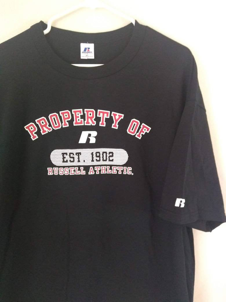 Property of Russell Athletics tee shirt Size XL