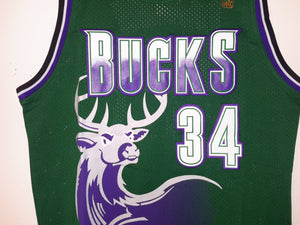 Milwaukee Bucks Retro 90s Jersey Ray Allen Wisconsin Jesus Shuttlesworth NBA Champ