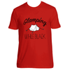 GLAMPING WHILE BLACK T-SHIRT