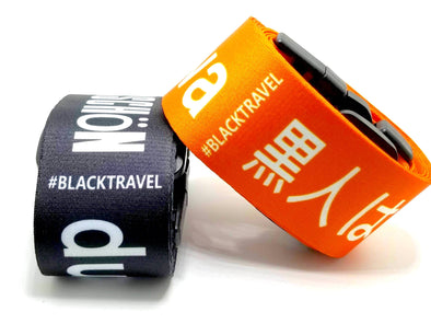 BLACK IS BEAUTIFUL POLYGLOT LUGGAGE STRAPS
