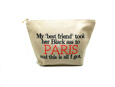 BLACK ASS MAKEUP BAG