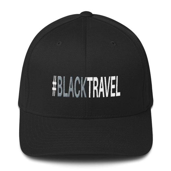 #BLACKTRAVEL TWILL EMBROIDERED CAP
