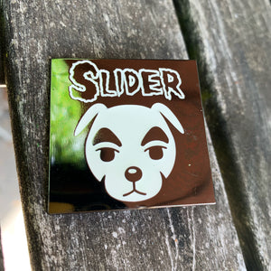 Slider lapel pin