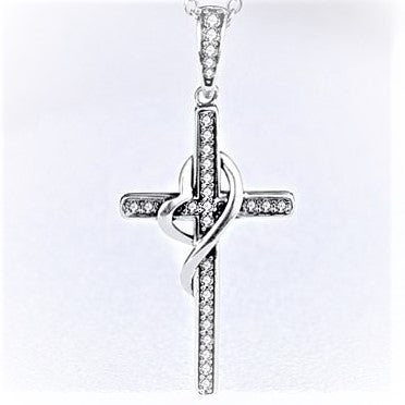 New Arrival Waived Heart Cross