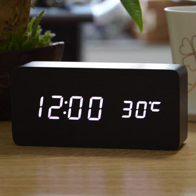 LED Digital Alarm Clock Control Desktop Temperature Sounds