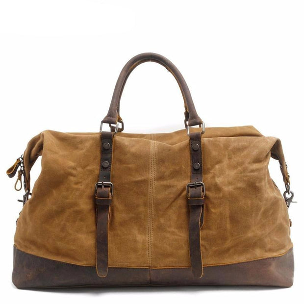 Duffel Bag Waterproof Canvas/Leather Travel Tote