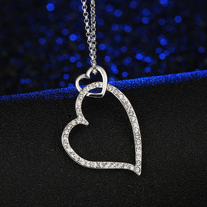Double Heart Choker (Crystal)