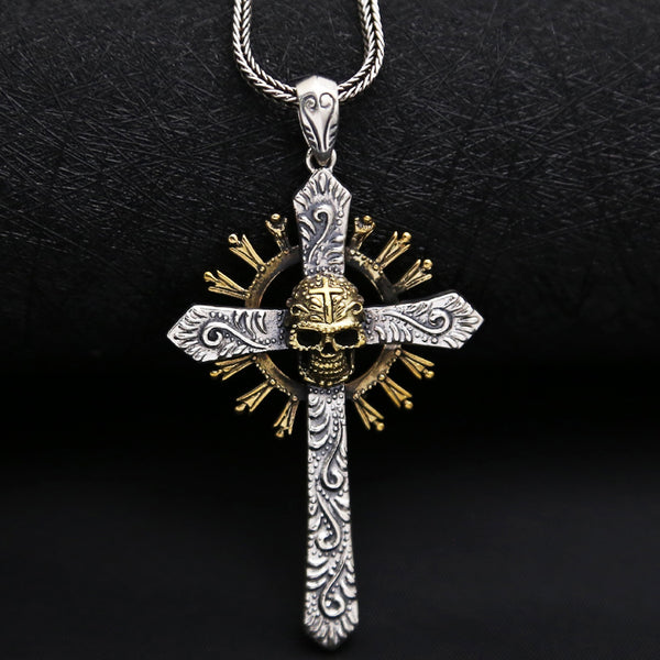 SOLD OUT! Cross Gothic Skull 100% 925 S/Silver
