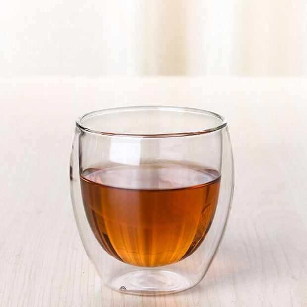 EXQUISITE Double Wall Glassware Coffee-Tea (Clear)
