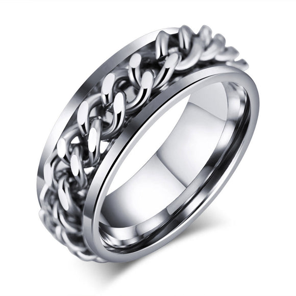Punk Rock Men's Ring Stainless Steel