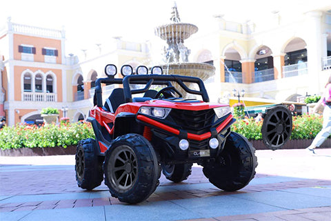 Dune Buggy 24V 2022 Model w/ Leather Seat, Rubber Tires, Bluetooth Speaker & APP