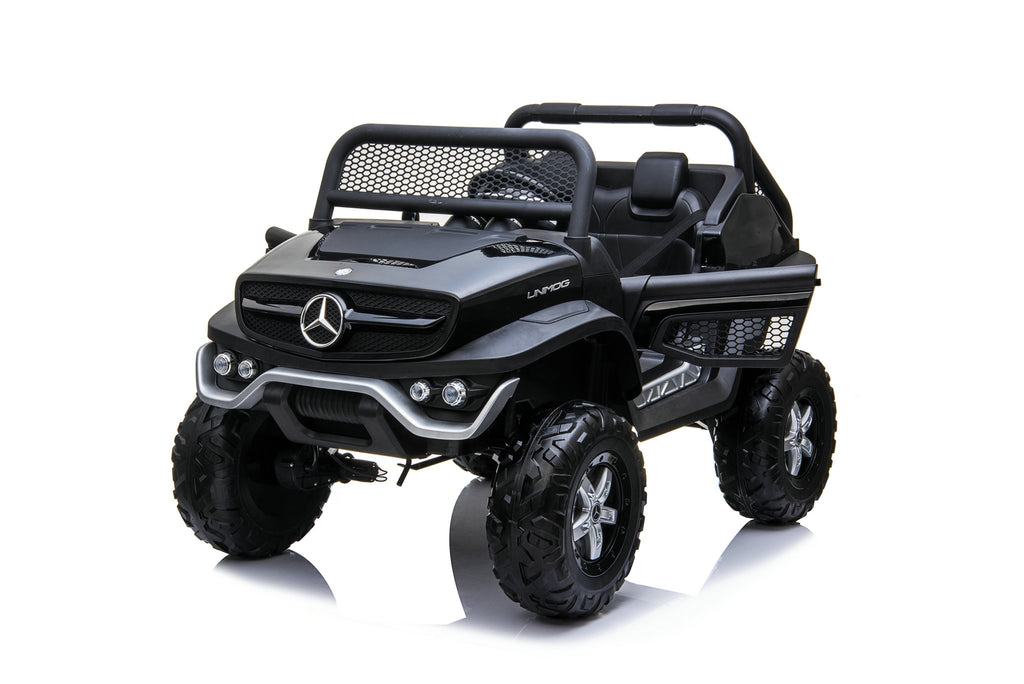 2022 12V Mercedes Unimog Mini | Quad 4x4 | Small Two Leather Seat & Rubber Tires