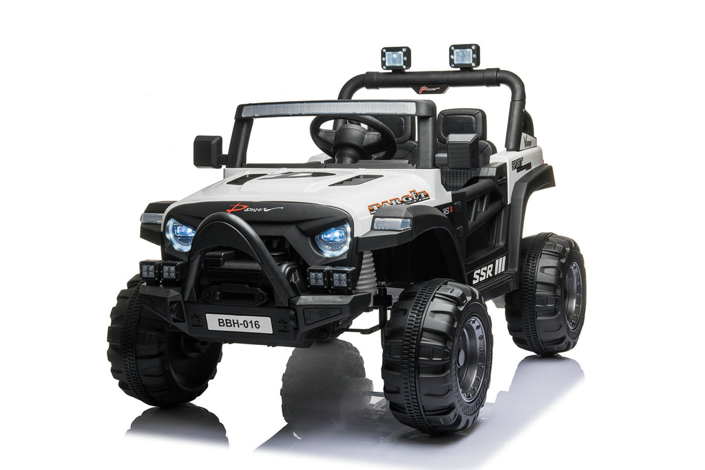 2022 12V Jeep Turbo   Small Two Leather Seat & Rubber Tires   Remote Control