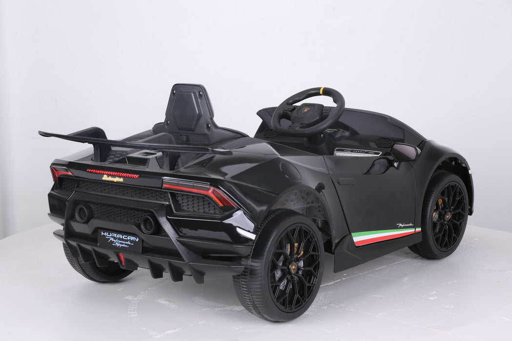 2022 12V Lamborghini Huracan | Single Leather Seat & Rubber Tires | Remote Control