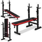 PRE ORDER: Adjustable Bench Press Set w/ Barbell & Weights