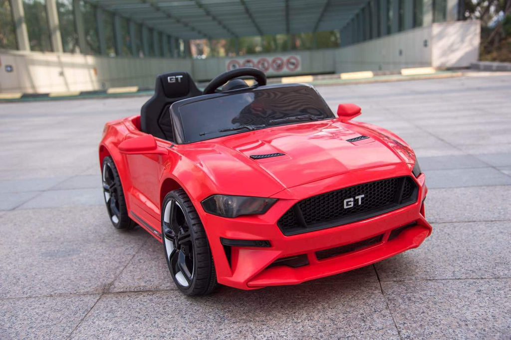 2022 Mustang Style Ride On | 12V Battery & Hydraulics | Leather Seat & Rubber Tires | Remote Control