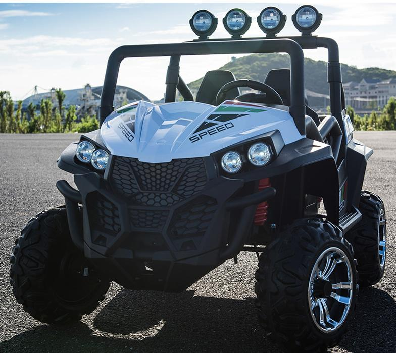 24V Dune Buggy XXL | Leather Seats & Rubber Tires | Bluetooth Speaker