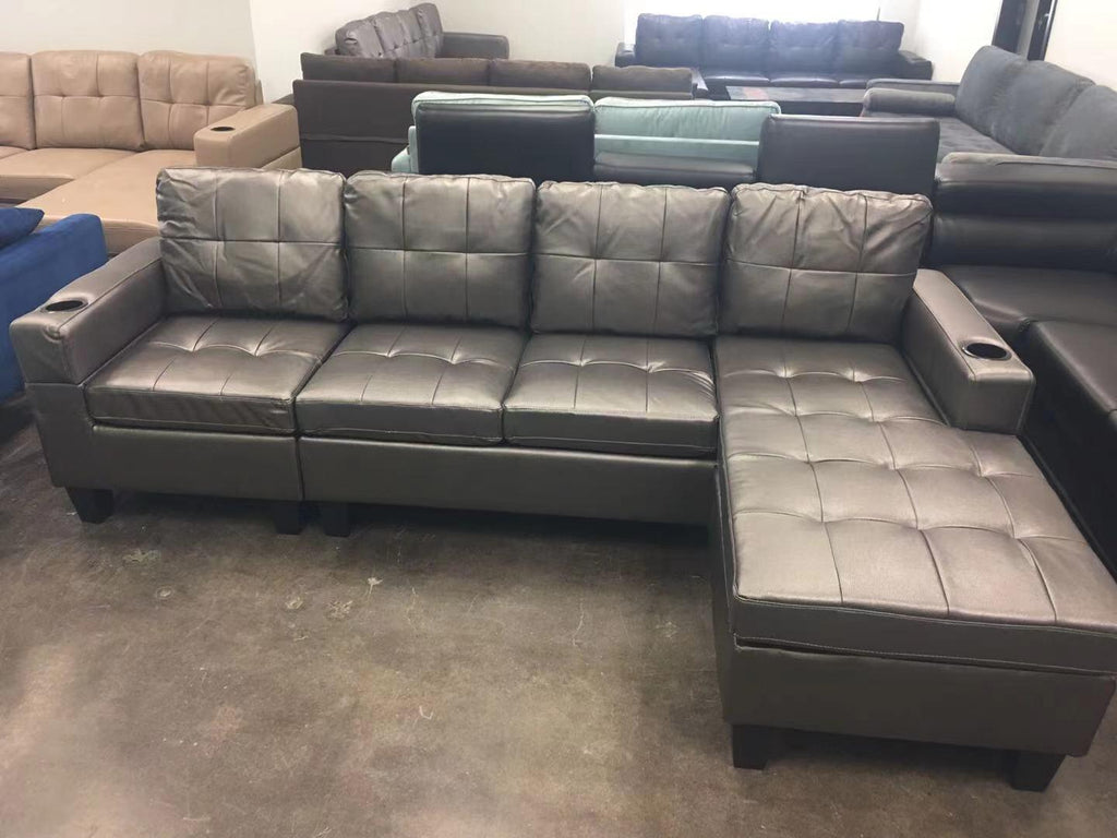 Majestic Leather Sectional Couch