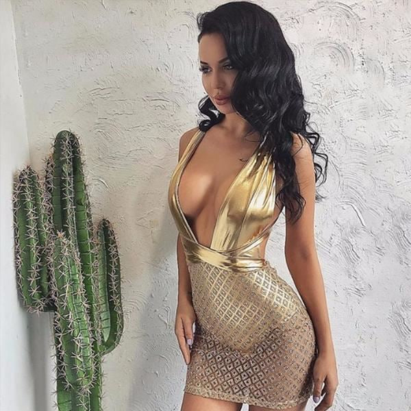 Ariel Shimmer Party Dress Gold / L Dresses 2018 Luxe Du Soir