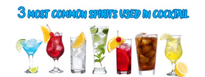 3 most common spirits used in cocktail