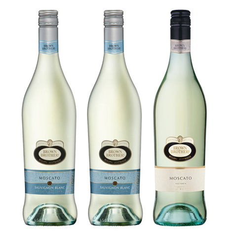 Bundle of 3 Brown Brothers (1 Bottle Moscato & 2 Bottles Moscato Sauvignon Blanc),  - The Liquor Shop Singapore