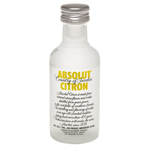 Absolut Citron Miniature 5cl, Vodka - The Liquor Shop Singapore