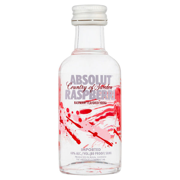 Absolut Raspberri Miniature 5cl, Vodka - The Liquor Shop Singapore