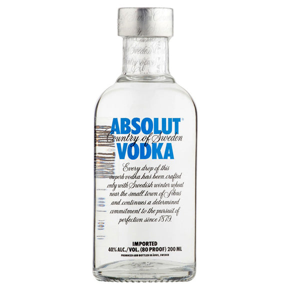 Absolut Vodka 20cl, Vodka - The Liquor Shop Singapore