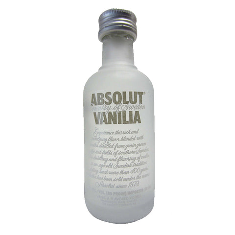 Absolut Vanilla Miniature 5cl, Vodka - The Liquor Shop Singapore